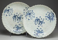 Asian:Chinese, A PAIR OF CHINESE BLUE AND WHITE PORCELAIN CHARGERS. Marks:(six-character mark). 2-3/4 inches high x 16 inches diameter (7....(Total: 2 Items)