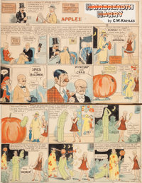 C. W. Kahles Hairbreadth Harry Sunday Hand-Colored Comic Strip Original Art dated 10-30 (Philadelphia Press, c. 19... (T...