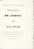 Books:Literature 1900-up, [Limited Editions Club] Edward A. Wilson, illustrator. SIGNED.Robert Louis Stevenson. Strange Case of Dr. Jekyll and Mr...