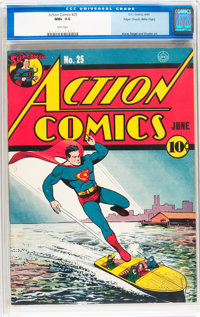 Action Comics #25 Mile High pedigree (DC, 1940) CGC NM+ 9.6 White pages