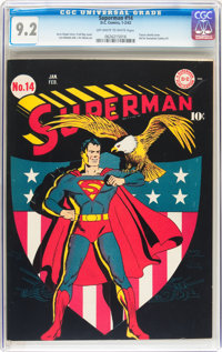 Superman #14 (DC, 1942) CGC NM- 9.2 Off-white to white pages