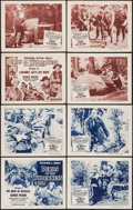 """Movie Posters:Serial, Perils of the Wilderness (Columbia, 1955). Lobby Card Sets of 4 (2) (11"""" X 14"""") Chapter 3 -- """"The Mine of Menace!"""" & Chapter... (Total: 8 Items)"""