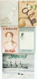 Books:Fiction, John Fowles. SIGNED. Group of Five First Editions. Variouspublishers and dates. Mantissa and A Maggot aresigned ... (Total: 5 Items)