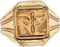 Radio Lone Ranger Secret Compartment Army Air Corps Ring Premium (1940s) Condition: FN-