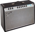 Musical Instruments:Amplifiers, PA, & Effects, 1968 Fender Deluxe Reverb Black Guitar Amplifier, Serial #A24581....