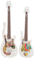 Musical Instruments:Electric Guitars, 2014 GBGC (Guys Building Guitars Club) Children's Miracle NetworkWhite Solid Body Electric Guitars. Serial #s N/A... (Total: 2Items)