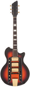 Musical Instruments:Electric Guitars, 1959 Valco Town & Country Sunburst Solid Body Electric Guitar,Serial # T19190....
