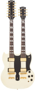 Musical Instruments:Electric Guitars, 1998 Gibson EDS-1275 White Solid Body Electric Guitar....