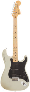 Musical Instruments:Electric Guitars, 1980 Fender 25th Anniversary Stratocaster Silver Solid BodyElectric Guitar, Serial # 259317....