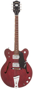 Musical Instruments:Electric Guitars, 1968 Gretsch Streamliner Burgundy Semi-Hollow Body Electric Guitar,Serial # 28669....
