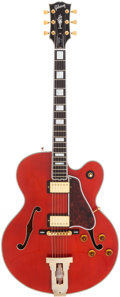 Musical Instruments:Electric Guitars, 1992 Gibson L-5CT Historic Collection Red Archtop Electric Guitar,Serial # 93238010....