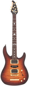Musical Instruments:Electric Guitars, 1999 Brian Moore Custom Sunburst Solid Body Electric Guitar, Serial# 61976....