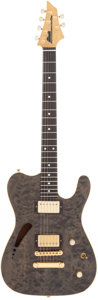 Musical Instruments:Electric Guitars, 1980's DeMarino Custom Grey Solid Body Electric Guitar, Serial # 96114....