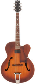 Musical Instruments:Electric Guitars, 1990's The Heritage Eagle Amberburst Archtop Electric Guitar,Serial # K21202....