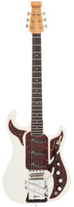 Musical Instruments:Electric Guitars, Hank Marvin's 1964 Burns of London Marvin White Solid Body Electric Guitar, Serial # 12008....