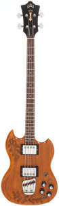 Musical Instruments:Bass Guitars, 1972 Guild Acorn Natural Electric Bass Guitar, Serial # 86230....