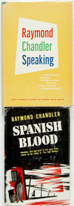 Books:Mystery & Detective Fiction, [Raymond Chandler]. Pair of First Editions. Spanish Blood. Cleveland: The World Publishing Company, [1946]. [and:] ... (Total: 2 Items)