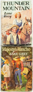 Books:Fiction, Zane Grey. SIGNED. Thunder Mountain. New York: Grosset &Dunlap, [1935]. Reprint. Signed by the author. [and... (Total: 2Items)