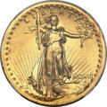 High Relief Double Eagles, 1907 $20 High Relief, Wire Rim MS63+ NGC....