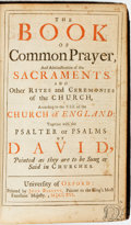 Books:Religion & Theology, [Religion & Theology]. The Book of Common Prayer, and Administration of the Sacraments... Oxford: John Baskett, 1716...