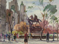 Works on Paper, FREDERIC WHITAKER (American, 1891-1980). Pair of New York Scenes, 1942. Watercolor on paper, each. 21-1/2 x 29-1/2 inche... (Total: 2 Items)