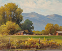 ROBERT WILLIAM WOOD (American, 1889-1979) Bishop, California Oil on canvas 25 x 30 inches (63.5 x