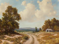 Paintings, ROLAND D. ENRIGHT (American, 1921-1983). Country Road. Oil on canvas. 30 x 40 inches (76.2 x 101.6 cm). Signed lower lef...