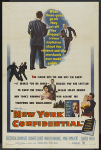 """New York Confidential (Warner Brothers, 1955). One Sheet (27"""" X 41""""). Crime"""