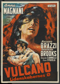 "Movie Posters:Drama, Volcano (Interfilm, 1953). Danish Poster (23"" X 33""). Drama. ..."