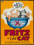 "Movie Posters:Animated, Fritz the Cat (American International, 1972). French Petite (22.75"" X 30.25""). Animated. ..."