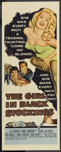 """Movie Posters:Crime, The Girl in Black Stockings (United Artists, 1957). Insert (14"""" X36""""). Crime...."""