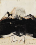 Paintings, JESSE FERNANDEZ (Twentieth Century). Composition, DATE. Mixed media on paper. 10 x 8 inches (25.4 x 20.3 cm). Signed low...