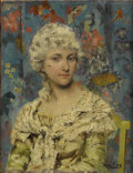 Fine Art - Painting, European:Antique  (Pre 1900), HENRY JOHN YEED KING (British 1855-1924). The Beauty Mark,DATE. Oil on canvas. 14 x 10-3/4 inches (35.6 x 27.3 cm). Sig...