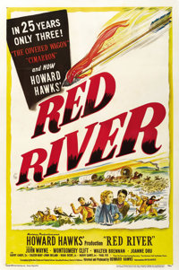 """Red River (United Artists, 1948). One Sheet (27"""" X 41"""")"""