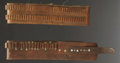Western Expansion:Cowboy, DOUBLE ROW CARTRIDGE BELT ca. 1890 - Catalogue belt with 2 rows of.32 caliber loops; light brown color and nickel buckle; e...(Total: 1 Item)