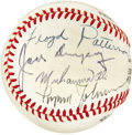 Boxing Collectibles:Autographs, 1970's Boxing Legends Multi-Signed Baseball. Long before thecurrent craze of supplying baseballs to all manner of celebrit...