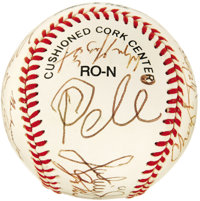 1994 Sports Superstars Multi-Signed Baseball. An extraordinary array of autographs find a common theme in each signer's...