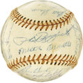 Autographs:Baseballs, 1955 New York Yankees Team Signed Baseball. Though the Brooklyn Dodgers would finally take their revenge for five consecuti...