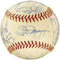 Autographs:Baseballs, 1951 New York Yankees Team Signed Baseball. A lonely lifesequestered in its original (and included) Reach packaging paysd...