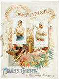 "Baseball Collectibles:Others, 1888 A16 Allen & Ginter ""Album of Worlds Champions."" Themajestic Victorian-era artistry of the trading cards issued bythi..."