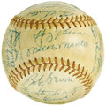 "Autographs:Baseballs, 1956 New York Yankees Team Signed Baseball. Mickey Mantle called it""My Favorite Summer,"" and considering the fact that he ..."