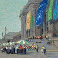 Paintings, JOHN CHARLES TERELAK (American, b. 1942). Outside the Metropolitan Museum, 1996. Oil on canvas. 24 x 24 inches (61.0 x 6...