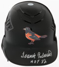 Baseball Collectibles:Hats, Frank Robinson Signed Baltimore Orioles Helmet....