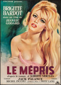 "Movie Posters:Foreign, Le Mepris (Cocinor, 1963). French Affiche (22.5"" X 31.25"").Foreign.. ..."