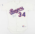 "Baseball Collectibles:Uniforms, Nolan Ryan Signed ""Scoreboard Company"" Texas Rangers Jersey...."