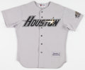 Baseball Collectibles:Uniforms, 1995 Chris Donnels Game Worn Houston Astros Jersey....