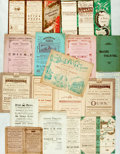 Books:Prints & Leaves, [Theatre] Large Group of Approximately Sixty Antique Victorian-EraPromotional Pamphlets and Programs for the Theatre. Inclu...