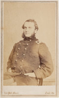 Photography:CDVs, Union Colonel Strong Vincent, Mortally Wounded at Little Round Top, Carte de Visite....