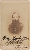 """Photography:CDVs, Union Brigadier General Jasper Adalmorn Maltby Carte de Visite Signed """"Very Truly Yours / J. A. Maltby / Brig ..."""