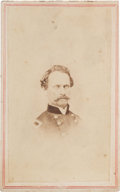 "Photography:CDVs, Union Brigadier General Alvin Peterson Hovey Carte de Visite Signed ""With Regards / Alvin P. Hovey""...."